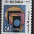 Germany 1991 - Scott 1623 used - 60pf, Erich Buchholz  (13-75)