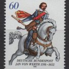 Germany 1991 - Scott 1629 MNH - 60 pf, Jan von Werth (13-91)