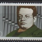 Germany 1991 - Scott 1645 MNH - 100 pf, Max Reger) (13-132)