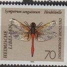 Germany 1991 - Scott 1675 MNH - 70pf, Dragonfly   (K - 600)