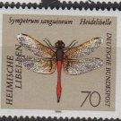 Germany 1991 - Scott 1675 MNH - 70pf, Dragonfly   (K - 600)