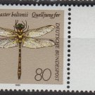 Germany 1991 - Scott 1676 MNH - 80pf, Dragonfly (5-393)
