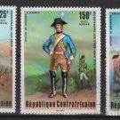 Central African Republic 1976 -Scott C139-143 (5) CTO- American Bicentennial (Ru-455)