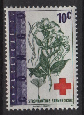 Congo Democratic 1963 - Scott 443 MNH - 10c, Red Cross Cent. (C-757)