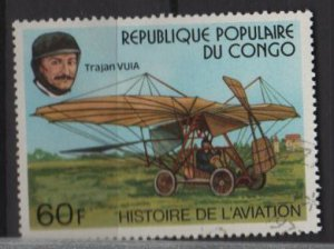 People's Republic of CONGO 1977 -Scott 421 CTO - 60fr,  Aviation history (13-233)