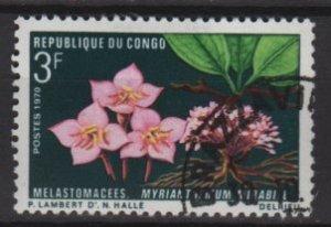 People's Republic of CONGO 1970 - Scott 224 CTO - 3fr, flowers (13-226)