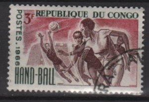 People's Republic of CONGO 1966 -  Scott 145 CTO - 3fr, Handball (13-217)