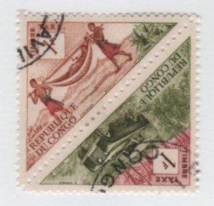 People's Republic of CONGO 1961 - Scott J35 & J41 pair  CTO - 1fr, Transportation (13-250