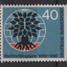 Germany 1960 - Scott 808 MNH - 40 pf, World Refugee Year (13-275)