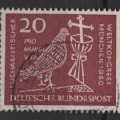 Germany 1960 - Scott 812 used - 20pf, Eucharistic World Congress (13-283)