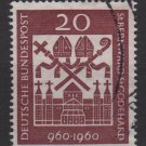 Germany 1960 - Scott 817 used - St Bernard & St Godehard (F-293)
