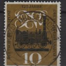 Germany 1960 - Scott 822 used - 10pf, Railroad, Locomotive (12-300)