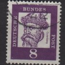 Germany 1961 - Scott 826 used - 8 pf, Johann Gutenberg  (A-285)