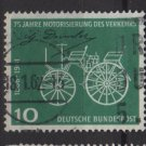 Germany 1961 - Scott 840 used - 10pf, Gottlieb Daimler's car (12-303)