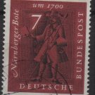 Germany 1961 - Scott 842 used - 7pf, Nuremberg Messenger (12-305)
