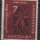 Germany 1961 - Scott 842 used - 7pf, Nuremberg Messenger (12-305)