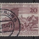Germany 1962 - Scott  848 used - 20pf, Mainz 2000th Anniv (F-316)