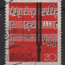 Germany 1962 - Scott  849 used - 20pf, Choral, music Note (13-298)