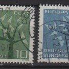 Germany 1962 - Scott  852 & 853 used - Europa  (13-302)