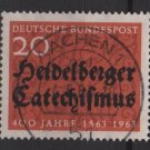 Germany 1963 - Scott  861 used - 20pf, Heidelberg Cathechism (13-310)
