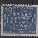 Germany 1963 - Scott  863 used - 40pf, Paris Intl Postal Conf.  (13-312)