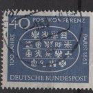 Germany 1963 - Scott  863 used - 40pf, Paris Intl Postal Conf.  (13-312)