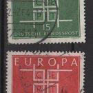 Germany 1963 - Scott 867 868 used - Europa, common design (7-80)