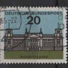 Germany 1964 - Scott 874 used - 20pf, Reichstag, Berlin (13-324)