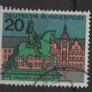 Germany 1964 - Scott 876 used - 20pf, Dusseldorf, Jan Wellen statue (13-327)