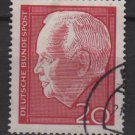 Germany 1964 - Scott 881 used - 20pf, Pres. Heinrich Lubke (13-333)