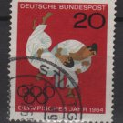 Germany 1964 - Scott 899 used - 20 pf, Tokyo Olympic, Judo (13-345)