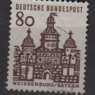 Germany 1964 - Scott  912 used - 80pf, Weissenburg, Bayern (13-358)