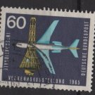Germany 1965 - Scott  924 used - 60pf, Plane & space capsule (13-364)