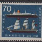 Germany 1965 - Scott  925 MH - 70pf, Ship & ocean liner (13-368)