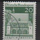 Germany 1966 - Scott  939 used - 20pf, Lorsch, Hessen  (13-375)