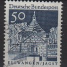 Germany 1966 - Scott  943 used - 50pf, Ellwangen, Jagst (13-382)
