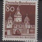 Germany 1966 - Scott  946 MNH - 80pf, Weissenburg, Bayern (13-387)