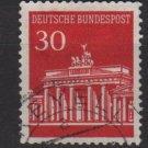 Germany 1966 - Scott  954 used - 30 pf, Brandenburg Gate (5-204)