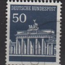 Germany 1966 - Scott  955 used - 50 pf, Brandenburg Gate (5-205)