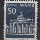 Germany 1966 - Scott  955 used - 50 pf, Brandenburg Gate (5-205)
