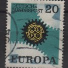 Germany 1967 - Scott  969 used - 20pf, Europa, Common design (13-421)