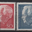 Germany 1967 - Scott  974 + 975 used - Pres. Heinrich Lubke  (13-428)