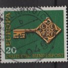 Germany 1968 - Scott 983 used - 20pf, Europa, Common design  (13-435)