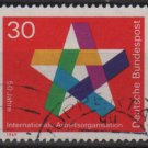 Germany 1969 - Scott 995 used - 30pf, ILO 50th Anniv (13-449)