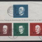 Germany 1968 - Scott 982 sheet of 4 CTO- Adenauer Death, European Leaders (1A-9)