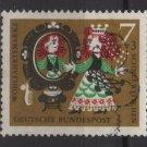 Germany 1962 - Scott B384 used - 7 + 3pf, Snow white (F-344)