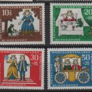 Germany 1966 - Scott  B418- B421 (4) MNH - The Princess & the Frog (9-367)