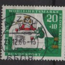 Germany 1966 - Scott  B419 used- 20+10pf,  The Princess & the Frog (13-471)