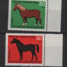 Germany 1969 - Scott  B442 - B445 (4) MNH - Horses (13-478)