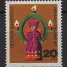 Germany 1971 - Scott  B480 MNH- 20 + 10pf, Christmas Angel with lights (13-485)